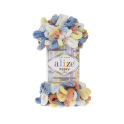 Пряжа Alize Puffy color цвет 5866