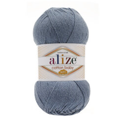 Пряжа Alize Cotton Soft Baby цвет синий 374
